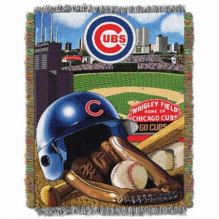 "MLB 48"" x 60"" Home Field Advantage Series Tapestry Throw, Cubs"