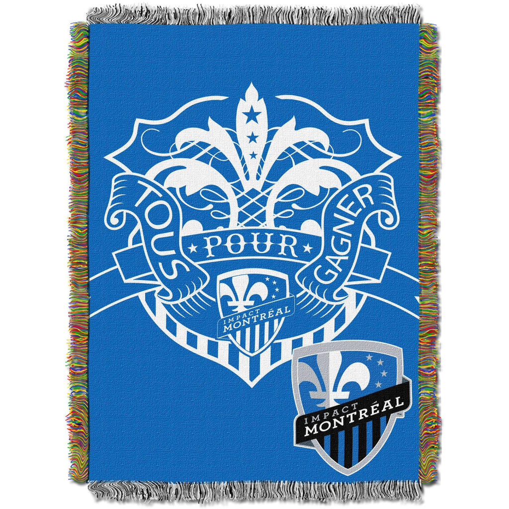 "MLS Montreal Impact Handmade 48"" x 60"" Woven Tapestry Throw"