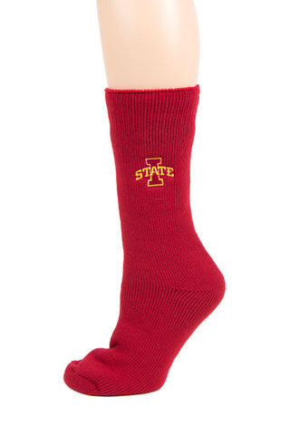 NCAA Iowa State Cyclones Maroon Thermal Socks