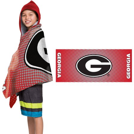 "NCAA Georgia Bulldogs ""Dots"" Youth Terry Cloth Hooded Wrap Towel"