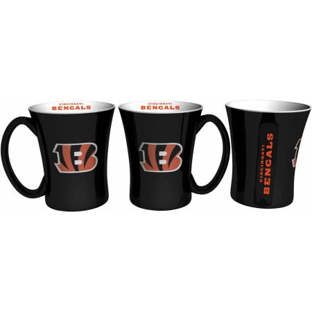 Boelter Brands NFL Set of Two 14 Ounce Victory Mugs, Cincinnati Bengals