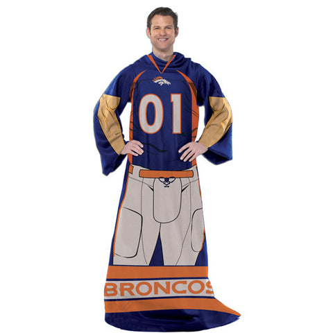 "Denver Broncos Player 48"" x 71"" Comfy Throw Blanket"