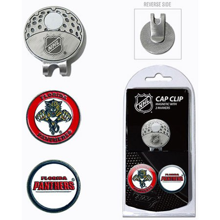 Team Golf NHL Florida Panthers Cap Clip With 2 Golf Ball Markers