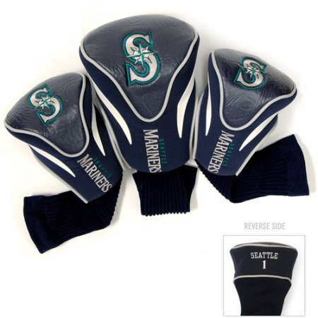 MLB Seattle Mariners 3 Pack Contour Head Covers