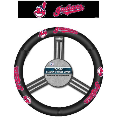 MLB Cleveland Indians Leather Steering Wheel Cover