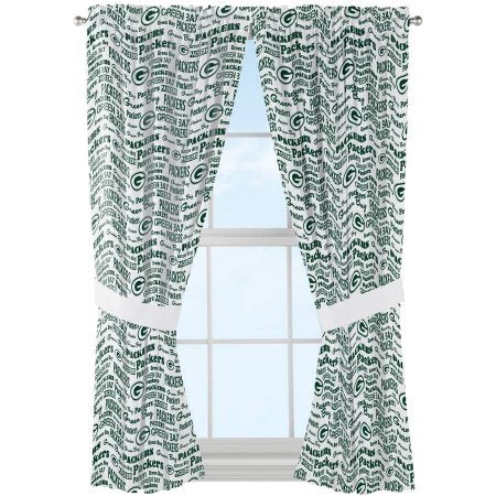 "NFL Green Bay Packers ""Anthem"" Window Curtain Panels - Set of 2 - 36"" x 48"""