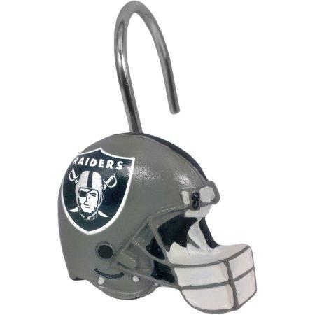 NFL Oakland Raiders Shower Curtain Hooks 12 Piece Set