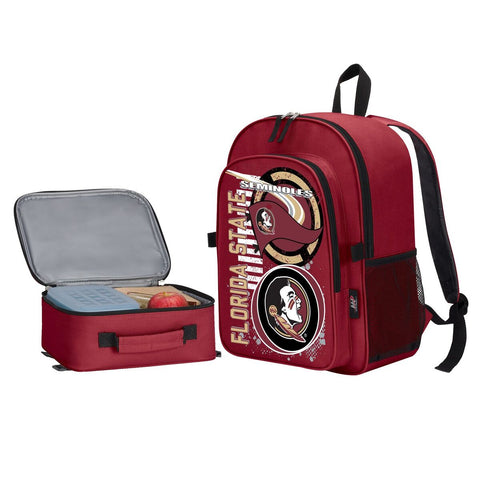 "Florida State Seminoles ""Accelerator"" Backpack and Lunch Bag / Box Set"