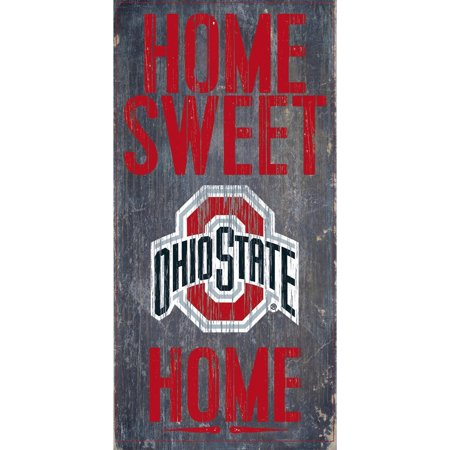 NCAA Ohio State Buckeyes 6'' x 12'' Home Sweet Home Sign