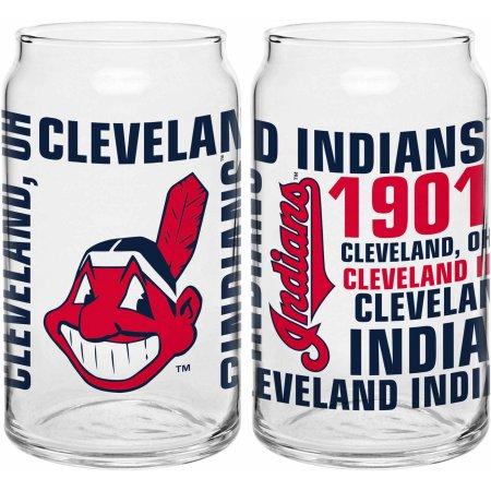 Boelter Brands MLB Cleveland Indians Set of Two 16 Oz Spirit Glasses