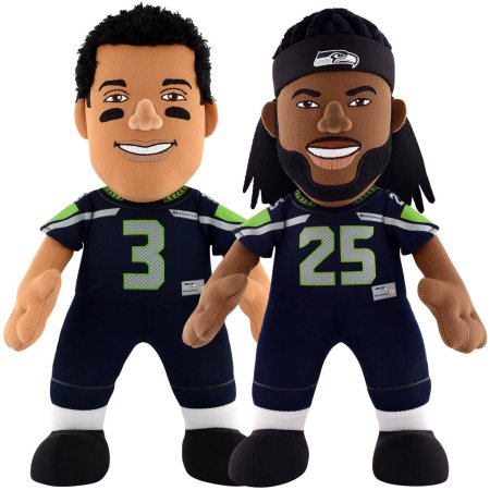 "Bleacher Creatures Dynamic Duo 10"" Plush Figures, Seahawks Wilson and Sherman"