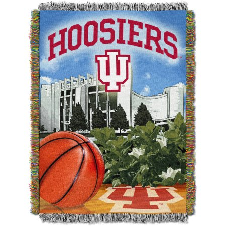 "NCAA 48"" x 60"" Tapestry Throw Home Field Advantage Series- Indiana"