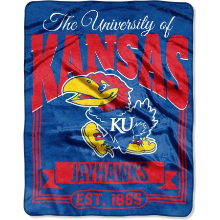 "NCAA Kansas Jayhawks ""Traction"" 55"" x 70"" Silk Touch Throw"