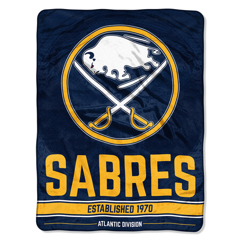 "NHL Buffalo Sabres ""Breakaway"" 46""x 60"" Micro Raschel Throw Blanket"