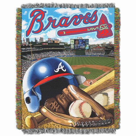 "MLB 48"" x 60"" Home Field Advantage Series Tapestry Throw, Braves"