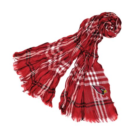 Little Earth - NFL Crinkle Plaid Scarf, Arizona Cardinals
