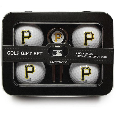 MLB Pittsburgh Pirates 4 Golf Ball And Divot Tool Set