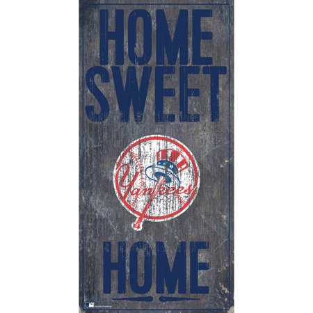 MLB New York Yankees 6'' x 12'' Home Sweet Home Sign