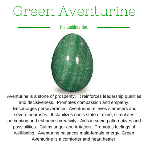 Green Aventurine Yoni Egg - The Goddess Box  - 1