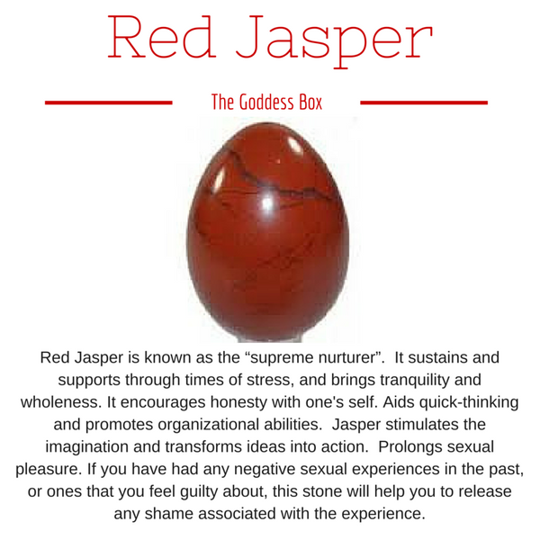 Red Jasper Yoni Egg - The Goddess Box  - 1