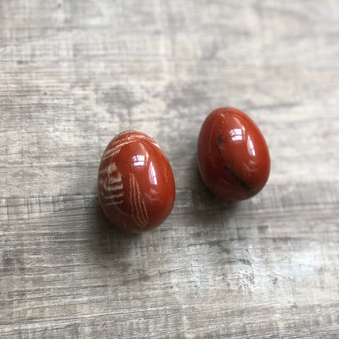 Red Jasper Yoni Egg - The Goddess Box