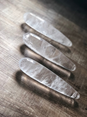 Clear Quartz Goddess Wand - The Goddess Box