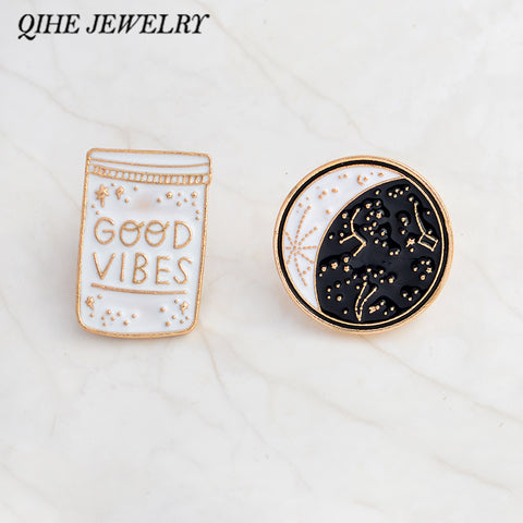 Good Vibes Enamel Pins - The Goddess Box