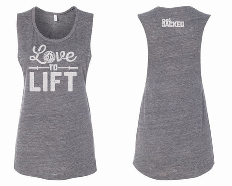 Love to Lift Muscle Tank - Grey