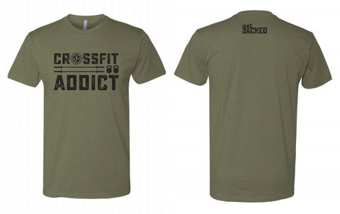 CrossFit Addict Tee - Military Green
