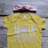 You Are My Sunshine Short Sleeve Infant Onesie