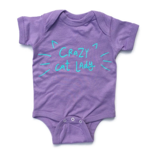 Crazy Cat Lady Infant Onesie - Chamomile + Roses