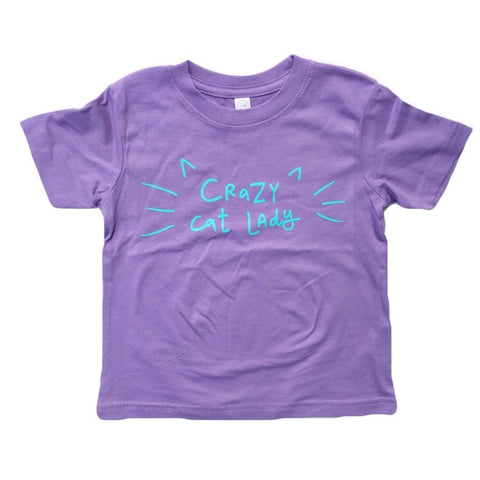 Crazy Cat Lady Toddler + Children's T-Shirt - Chamomile + Roses