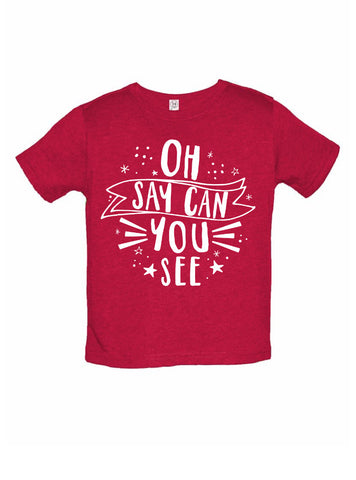 Oh Say Can You See Toddler and Children's T-shirt - Chamomile + Roses