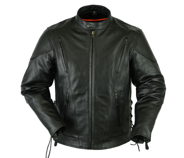 Vented M/C Jacket w/ Side Laces
