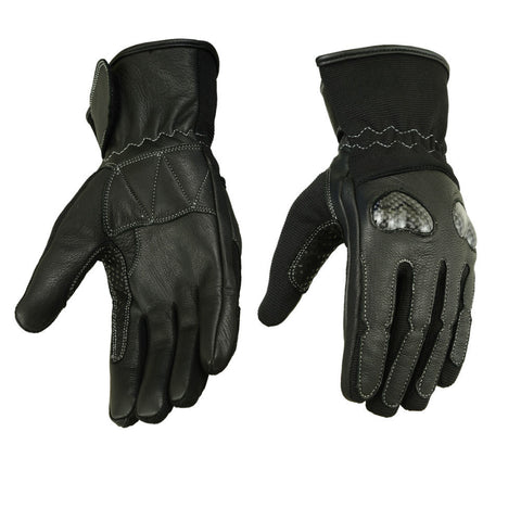 Women's Leather/ Textile Sporty Gloves