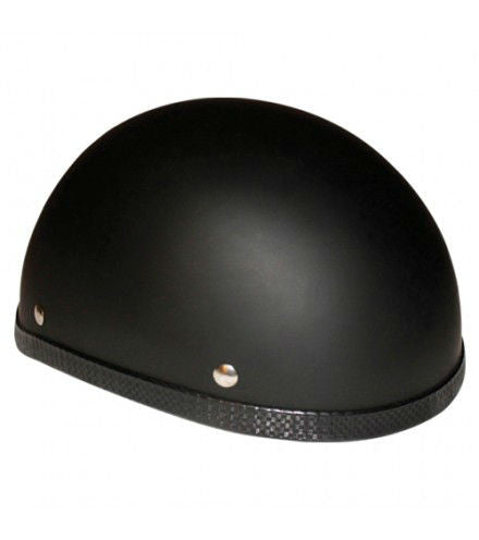 Novelty Eagle Flat/ Matte Black Motorcycle Half Helmet - Non-DOT