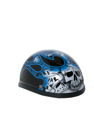 Novelty Eagle Blue Skull & Flames - Non- DOT