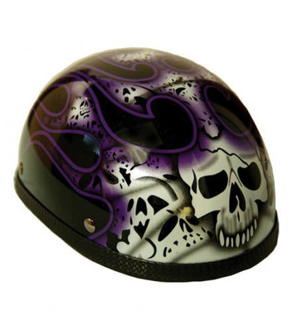 Novelty Eagle Purple Skull & Flames - Non- DOT