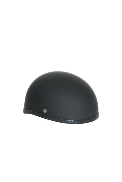 Novelty Skull Cap Rubber/ Matte Black - Non- DOT