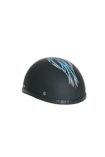 Novelty Eagle Helmet Aqua Perewitz/Flat Black - Non - DOT