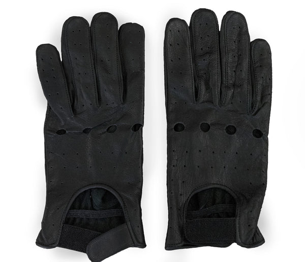 Perforated Full Finger Motorcycle Gloves