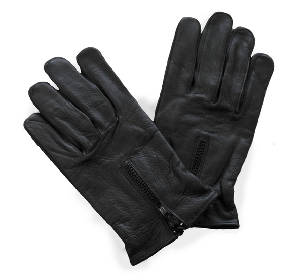 Zippered Full Finger Motorcycle Gloves