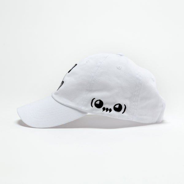 bitch i'm ghastly. Dad Hat in White