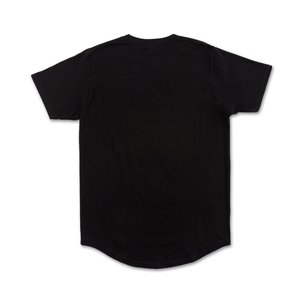 Oracle Scallop Tee in Black