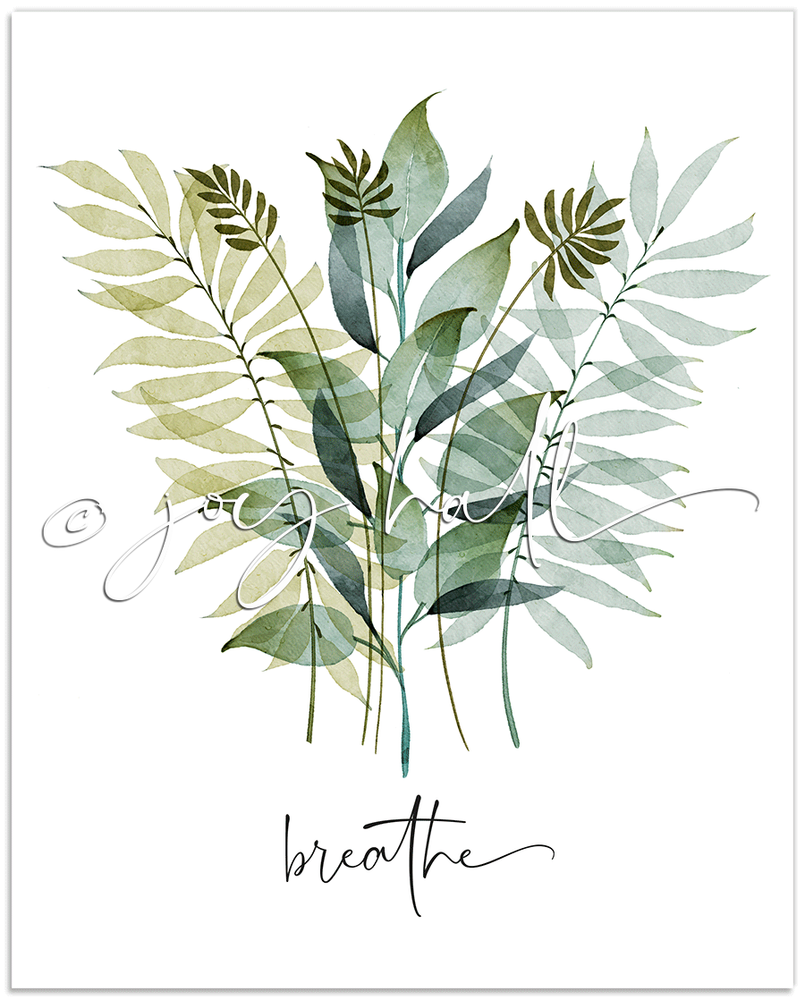 Breathe Botanical Print