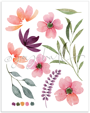 Load image into Gallery viewer, Fresh Blooms Botanical Print