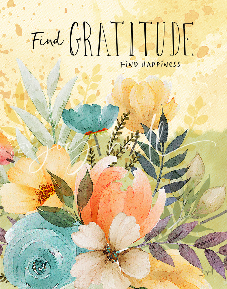 Find Gratitude, Find Happiness Art Print
