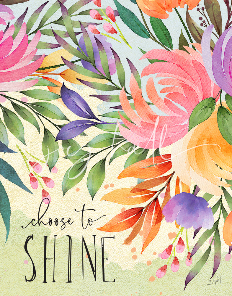Choose to Shine Art Print