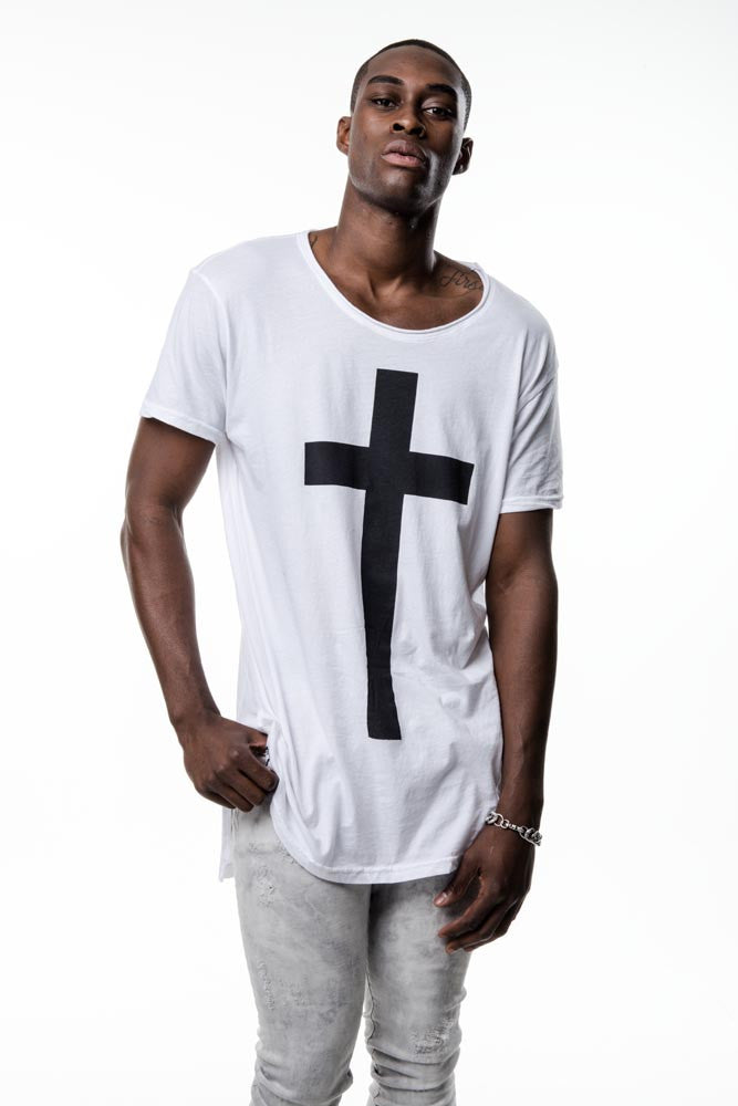 Mens White Cross