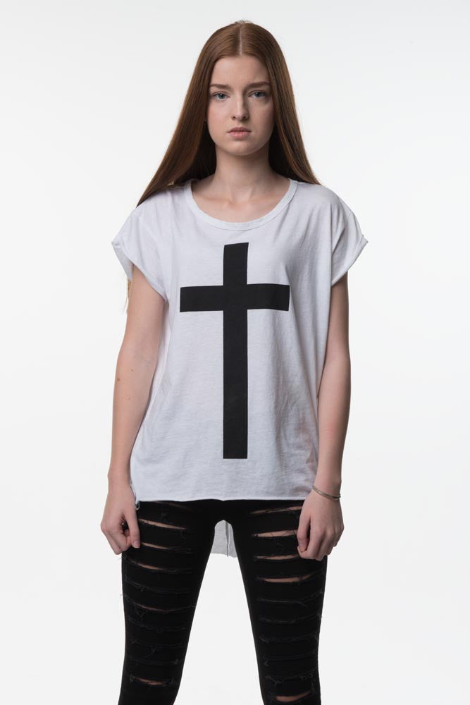 Womens White Cross